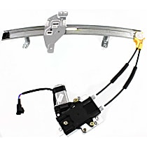 Front, Passenger Side Power Window Regulator, With Motor - Sedan