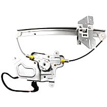 Rear, Passenger Side Power Window Regulator, With Motor - Sedan