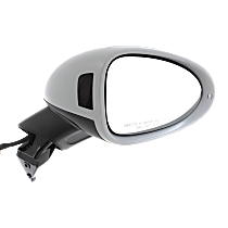 Mirror Power Folding Heated - Passenger Side, Power Glass, In-housing Signal Light, With Blind Spot Light in Housing, Paintable
