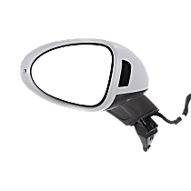 Mirror Power Folding Heated - Driver Side, Power Glass, In-housing Signal Light, With Blind Spot Light in Housing, Paintable
