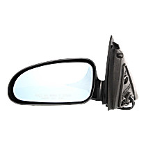 Mirror - Driver Side, Power, Heated, Paintable, Blue Glass