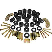 1-114-BL Body Lift Kit - Black, Direct Fit, Set of 24