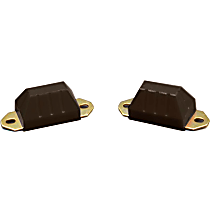 Prothane 1-1301-BL Front or Rear Bump Stop - Black, Polyurethane, Direct Fit, Set of 2
