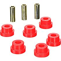 11-41009 Steering Rack Bushing - Red, Polyurethane, Direct Fit, Set of 6