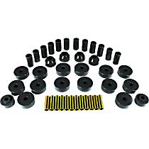 1-2001-BL Master Bushing Kit - Black, Polyurethane, Direct Fit, Kit