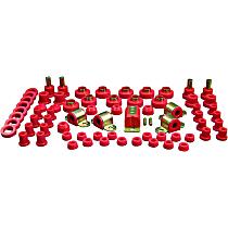 1-2008 Master Bushing Kit - Red, Polyurethane, Direct Fit, Kit