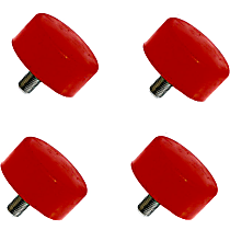 Front Bump Stop - Red, Polyurethane, Direct Fit, Set of 4