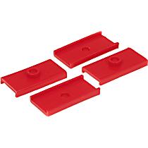 26-47078 Leaf Spring Insulator - Red, Polyurethane, Direct Fit