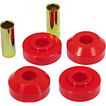 6-1205 Strut Rod Bushing - Red, Polyurethane, Direct Fit, Set of 4