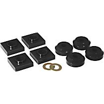 6-1601-BL Transfer Case Mount - Black, Polyurethane, Direct Fit
