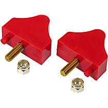 Front Bump Stop - Red, Polyurethane, Direct Fit, Set of 2
