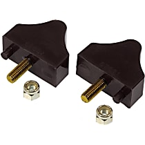 7-1301-BL Front Bump Stop - Black, Polyurethane, Direct Fit, Set of 2