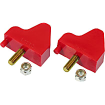 Prothane 7-1302 Front Bump Stop - Red, Polyurethane, Direct Fit, Set of 2