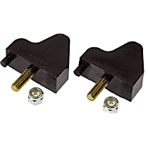 Prothane 7-1302-BL Front Bump Stop - Black, Polyurethane, Direct Fit, Set of 2