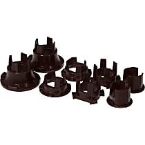 Subframe Bushing - Black, Polyurethane, Direct Fit, Set of 8