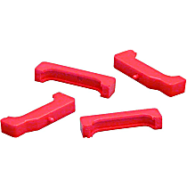 Prothane 7-1711 Radiator Mount - Red, Polyurethane, Direct Fit, Set of 4