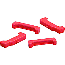 Prothane 7-1712 Radiator Mount - Red, Polyurethane, Direct Fit, Set of 4