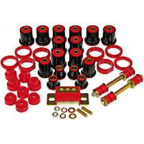 Master Bushing Kit - Red, Polyurethane, Direct Fit, Kit