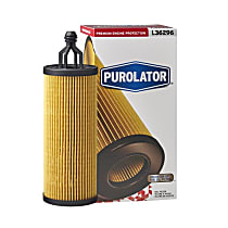 L36296 Oil Filter - Cartridge, Direct Fit, Sold individually