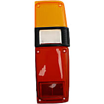 ReplaceXL Tail Light Lens - 11-1137-02 - Passenger Side, Amber, clear, red, Plastic, Direct Fit, Sold individually