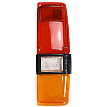 ReplaceXL Tail Light Lens - 11-1138-02 - Driver Side, Amber, clear, red, Plastic, Direct Fit, Sold individually