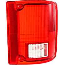 Tail Light Lens - Passenger Side, Red, Plastic, Direct Fit, Sold individually