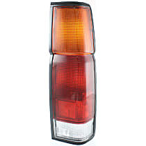 Passenger Side Tail Light, Without bulb(s) - Amber, Clear & Red Lens, w/o Dual Rear Wheels