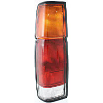 Driver Side Tail Light, Without bulb(s) - Amber, Clear & Red Lens, w/o Dual Rear Wheels