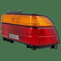 Passenger Side Tail Light, With bulb(s) - Amber, Clear & Red Lens, Sedan