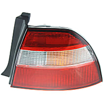 Passenger Side Tail Light, Without bulb(s) - Amber, Clear & Red Lens, Exc. Wagon
