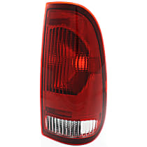 CAPA Certified Passenger Side Tail Light, Without bulb(s) - Clear & Red Lens, Styleside