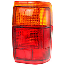 Passenger Side Tail Light, With bulb(s) - Amber & Red Lens