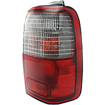 Passenger Side Tail Light, With bulb(s) - Clear & Red Lens, From 1-97