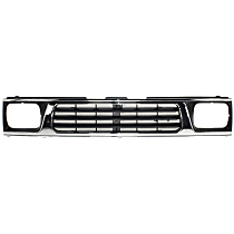 Grille, Chrome Shell and Painted Black Insert