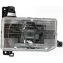 Passenger Side Headlight, With bulb(s) - (87-95 Pathfinder 88-89 D21 Hardbody) Clear Lens