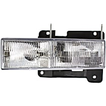 Driver Side Halogen Headlight, With bulb(s), CAPA CERTIFIED