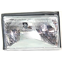 Passenger Side Halogen Headlight, With bulb(s) - (87-93 Mustang) Clear Lens