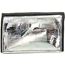 Driver Side Halogen Headlight, With bulb(s) - (87-93 Mustang) Clear Lens