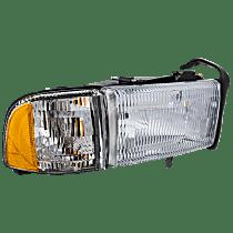 Passenger Side Headlight, With bulb(s) - Single Beam Old Body Style, Clear Lens, w/ Corner Light