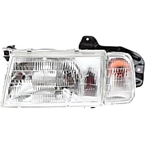 Driver Side Headlight, With bulb(s) - Clear Lens
