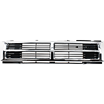 Grille, Chrome Shell with Painted Black Insert