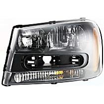 ReplaceXL CAPA Certified Driver Side Headlight, 2002-09 Trailblazer / 2002-06 Trailblazer EXT, (Except Models: 2006-09 LT / 2008 LS)