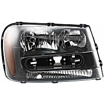 ReplaceXL CAPA Certified Passenger Side Headlight, 2002-09 Trailblazer / 2002-06 Trailblazer EXT, (Except Models: 2006-09 LT / 2008 LS)