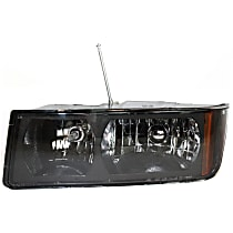 Driver Side Halogen Headlight, With bulb(s) - Clear Lens