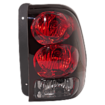 CAPA Certified Passenger Side Tail Light, With bulb(s) - Clear & Red Lens