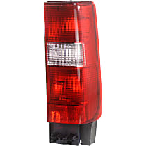 Passenger Side, Lower Tail Light, Without bulb(s) - Clear & Red Lens