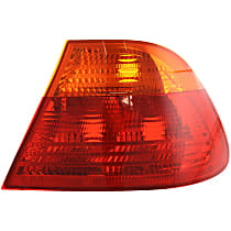 Passenger Side, Outer Tail Light, Without bulb(s)