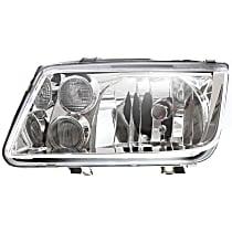 Driver Side Headlight, With bulb(s) - (99-02 Jetta) To VIN 2108641, W/Fog Light W/O Bulb(s), Clear Lens