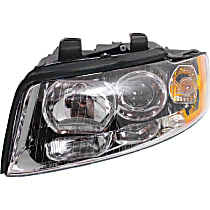 Driver Side Halogen Headlight, With bulb(s) - B6 Body Code, Clear Lens