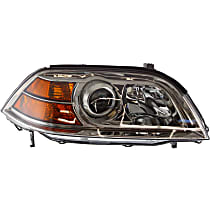 Passenger Side Headlight, Without bulb(s) - Clear Lens